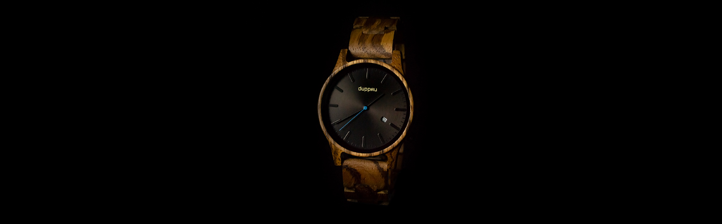 Dřevěné hodinky Duppau